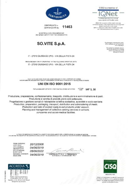 UNI EN ISO 9001-2015